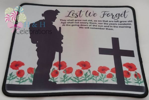 Lest We Forget Mouse Mat